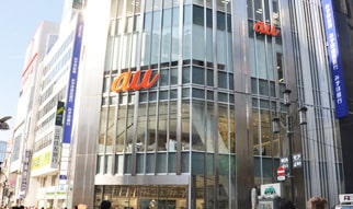 au SHINJUKU店舗外観の画像